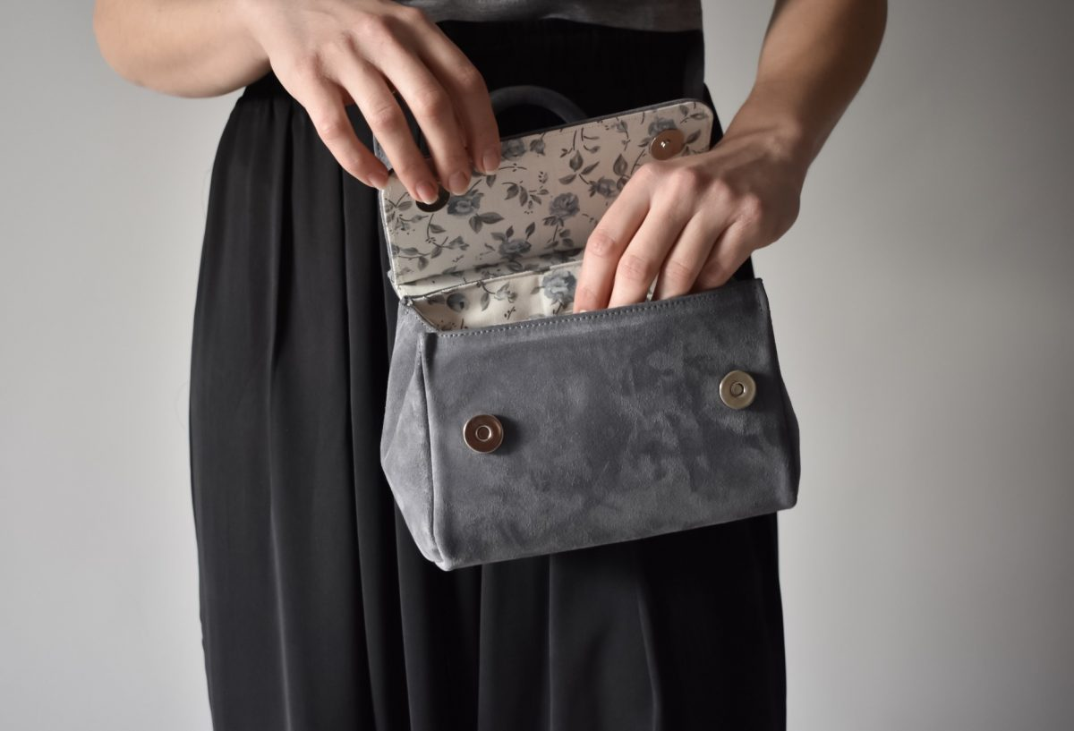 mini bag grey leather women_inside - theworkshopshoes