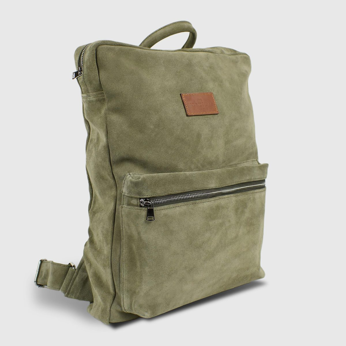 Books Sage Suede Leather Backpack - Handmade Backpack by The Workshop