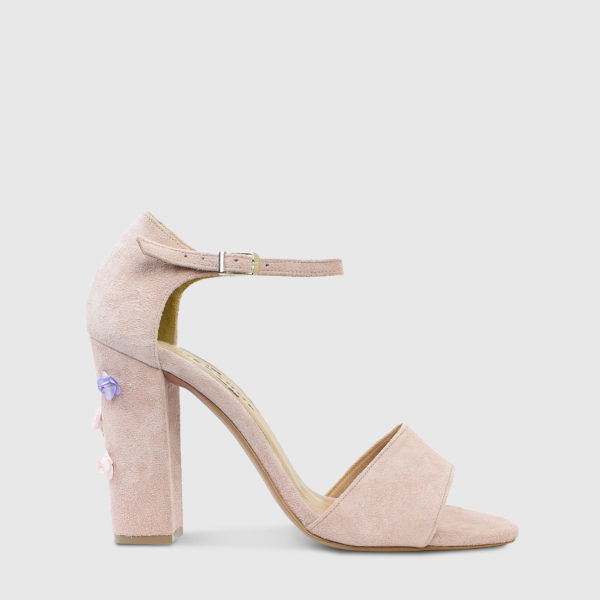 Madeleine Nude Suede Leather High Heel Sandals - Handmade Shoes by The Workshop