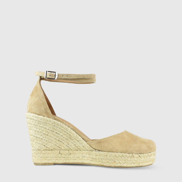 Monokeros Caramel Suede Leather Espadrille Wedges - Handmade Shoes by The Workshop
