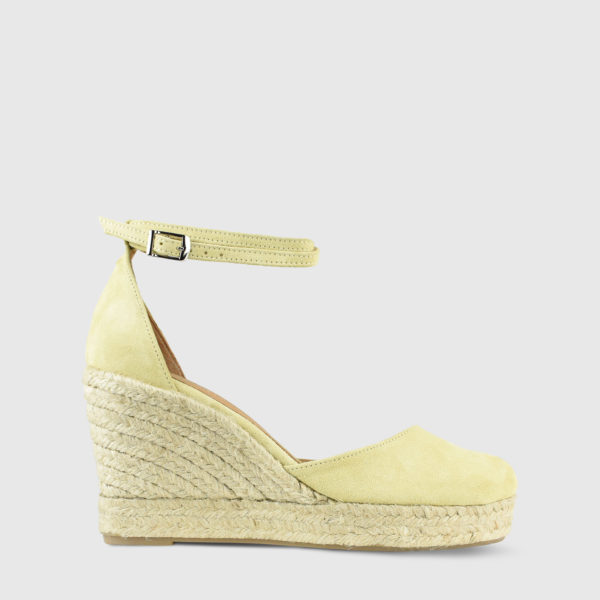Monokeros Lemon Suede Leather Espadrille Wedges - Handmade Shoes by The Workshop